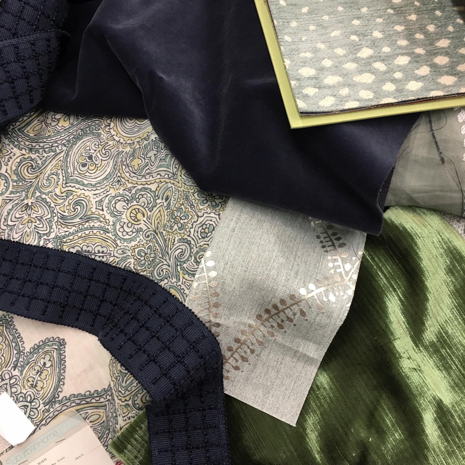 front door fabrics and interiors  u2013 from the designer u2019s desk  aqua  navy  and emerald
