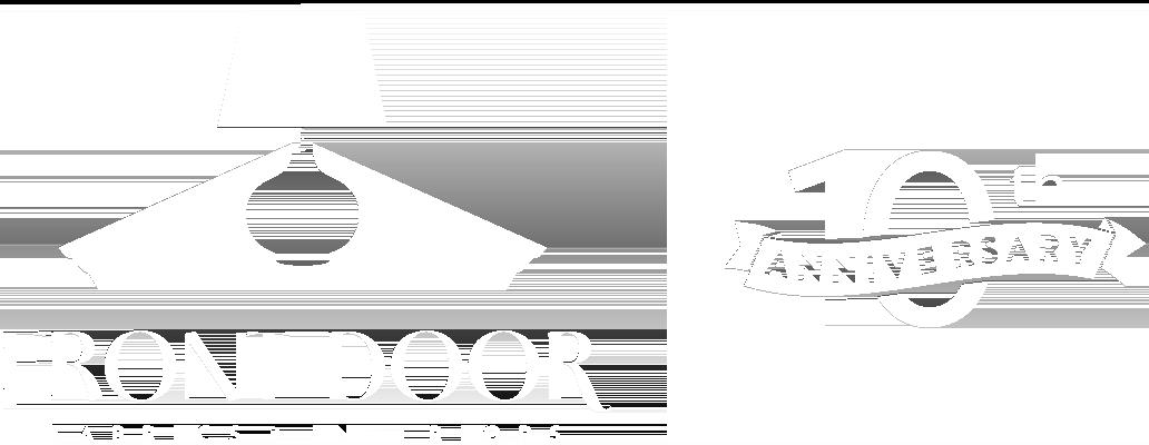 Front Door Fabrics 10th Anniversary Logo