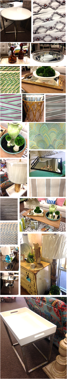 June 2015 Inventory: Accent Tables and Trays, Fabrics and Trims
