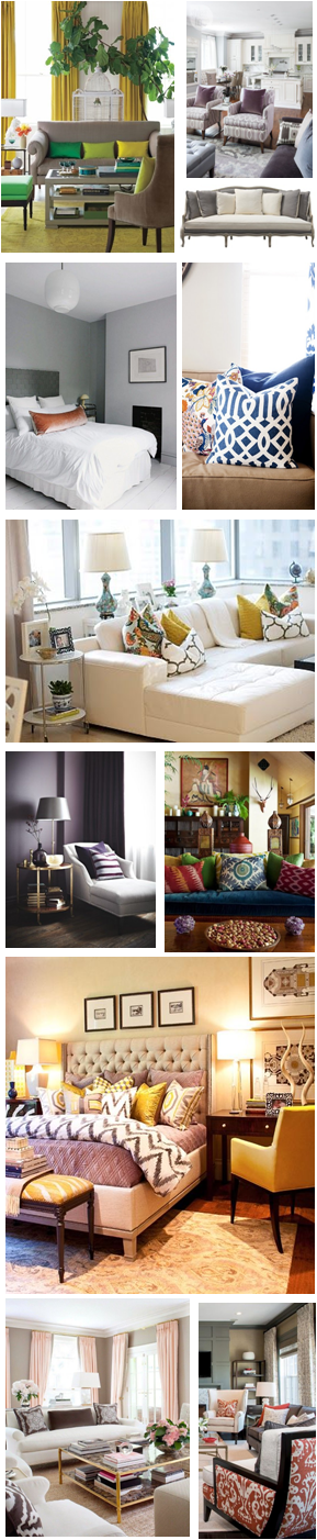 Pillow Trend: Solid Pops of Color