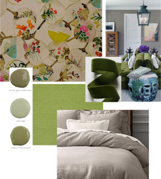 From the Designer's Desk: Olive tones with Oriental Accents
